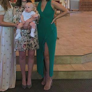 Kelly green midi dress!